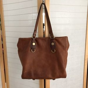 Marc by Marc Jacob brown leather 2 top handle tote